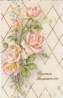Anniversaire : Heureux Anniversaire : Fleurs - Roses ( Illustrateur à Définir ) Glaçée - Cumpleaños