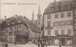 Cartes Postale Ancienne De Strasbourg L'église Saint Pierre Le Vieux - Strasbourg