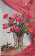 Anniversaire : Heureux Anniversaire : Fleurs Dans Un Vase - Roses - Rouge ( Illustrateur à Définir ) Glaçée - Cumpleaños