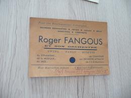 Musique Carte De Visite CDV Orchestre Roger Fangous Swing Tango Musette Mauguio Hérault - Musique & Instruments