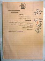 """Fattura Dattiloscritta """"DITTA VERGATI FRANCESCO CIVITAVECCHIA - CARNE FRESCA SCUOLE FROSINONE""""  1949 - Italie"""
