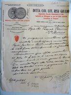 """Lettera Commerciale """"DITTA CAV. UFF. RISI GIULIO Vietri Sul Mare ( SA )"""" 1928 - Italia"""