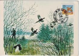 Etats-Unis Carte Maximum Oiseaux 1988 Faisan 1809 - Cartoline Maximum
