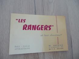 Musique Carte De Visite CDV Orchestre Les Rangers M.Guieau Als Galas  Nîmes Gard - Musique & Instruments