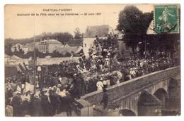 Aisne Chateau Thierry Souvenir De La Fete Jean De La Fontaine 23 Juin 1907 - Chateau Thierry