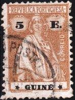 GUINEA PORTOGHESE, PORTUGUESE GUINEA, CERES, 5 E., 1925, USATO Mi. 192,  Scott 179K,  YT 202, Afi 198 - Guinée Portugaise
