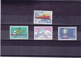 SUISSE 1962 PROPAGANDE Yvert 689-692 NEUF** MNH - Suisse