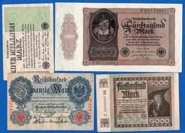 All  10  Billets - [ 3] 1918-1933 : República De Weimar