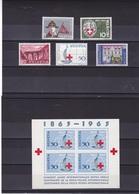 SUISSE 1963 PROPAGANDE Yvert 705-707 + 709-710 + BF 19 NEUF** MNH - Suisse