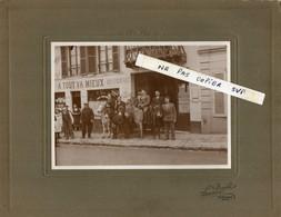 Grande Photo - Café - Restaurant A TOUT VA MIEUX - A. AUBERT- 74 Rue De Malabry - ROBINSON - Hommes Sur Des Anes - - Lieux