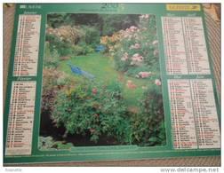 Almanach -la Poste- 2005 -coin De Jardin Avec Fleurs Et Arrosoir, Verso Le Jardin D'Anne Marie A Lardy (91) Voir Photos - Calendars