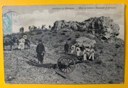 8559 - Artillerie De Montagne  Mise En Batterie Régiment D'Afrique - Guerre 1914-18