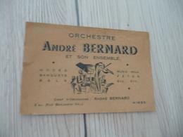 Musique Carte De Visite CDV Orchestre André Bernard N^mes Gard - Musique & Instruments