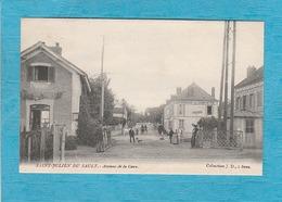 Saint-Julien-du-Sault. - Avenue De La Gare. - Passage à Niveau. - Café-Restaurant Du Chemin De Fer. - Saint Julien Du Sault