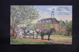 ETATS UNIS - Carte Postale De Williamsburg  - Colonial Coach In Front Of Capitol - L 28171 - Etats-Unis