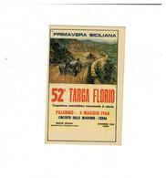 FIGURINA PANINI ADESIVA STICKER MANIFESTO 52 TARGA FLORIO STORIA DELL'AUTO - Edizione Italiana