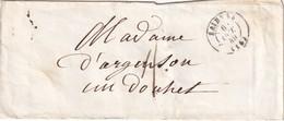 FRANCE 1849 LETTRE DE SAINTES - Marcophilie (Lettres)