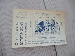 Musique Carte De Visite CDV Orchestre Juanitos Canalès Et Son Ensemble Raynaud Lunel Hérault - Musique & Instruments