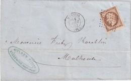 ALSACE-LORRAINE 1862 LETTRE DE MUNSTER POUR MULHOUSE - Alsace Lorraine