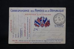 BELGIQUE - Carte Fm Pour Le Royaume Uni En 1915 - L 28182 - Armée Belge