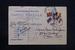 BELGIQUE - Carte Fm Pour Paris En Retour En 1915 - L 28185 - Armée Belge