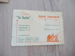 Musique Carte De Visite CDV Orchestre Jo Gotta Galas Montélimar Drôme - Musique & Instruments