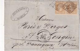 ALSACE-LORRAINE 1870 LETTRE DE MULHOUSE POUR LA LONGINE - Alsace Lorraine