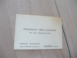 Musique Carte De Visite CDV Orchestre Francky Bellmann Et Sa Formation Nîmes Gard - Musique & Instruments