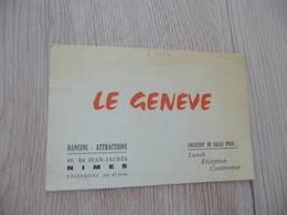 Musique Carte De Visite CDV Pub Le Genève Dancing Nîmes Gard - Musique & Instruments