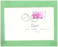 1970 ITALIA VIAGGIATA SINGOLA X LA GERMANIA GARIBALDI 50L. - 1961-70: Storia Postale