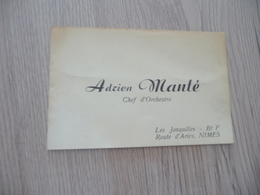 Musique Carte De Visite CDV Adrien Manté Chef D'Orchestre Nîmes Gard - Musique & Instruments