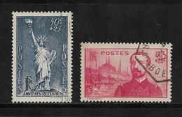 France Timbre De 1937 N°352/53 Oblitérés - Used Stamps