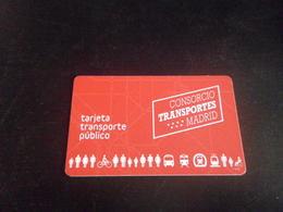Ticket Transport - MADRID - Carte - - Métro