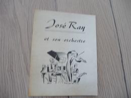 Musique Pub Publicité 2 Volets José Ray Et Son Orchestre Carcassonne - Musique & Instruments