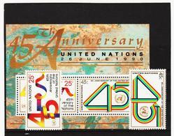 SRO190 UNO NEW YORK 1990 MICHL 602/03 + BLOCK 11 Postfrisch Siehe ABBILDUNG - New York -  VN Hauptquartier