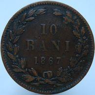 Romania 10 Bani 1867 F - Romania