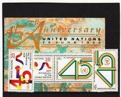 SRO191 UNO NEW YORK 1990 MICHL 602/03 + BLOCK 11 Postfrisch Siehe ABBILDUNG - New York -  VN Hauptquartier
