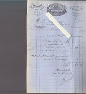 Marseille / Reglisse Cimie /  Facture 1887 Pour Voilier St-Lucien, Capitaine Rocher / Réparation Du Coffre à Médicaments - France
