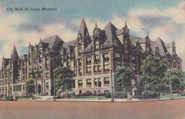 Carte Vers 1930 CITY HALL , ST LOUIS , MISSOURI - St Louis – Missouri