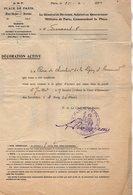 VP14.876 - MILITARIA - PARIS 1923 - Lettre Du G.M.P Relative à M. FROUSSARD Décoration Croix De La Légion D'Honneur - Documents