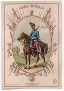 ARMEE FRANCAISE  HUSSARD  CHROMO  TRES BELLE ILLUSTRATION - Uniforms