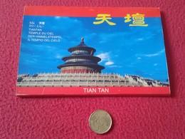 CARPETA DE 10 POSTALES POST CARDS POSTALES CHINA PEKIN TIAN TAN TIANTAN EL TEMPLO DEL CIELO POSTAL CHINE CARTES POSTALES - China