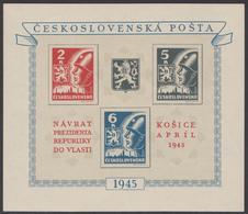 Tschechoslowakei 1945 Block 6 - Postfrisch / MNH - Tschechoslowakei/CSSR