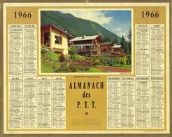 Calendrier PTT 1966 - Chamonix - Haute Savoie - Petit Format : 1961-70