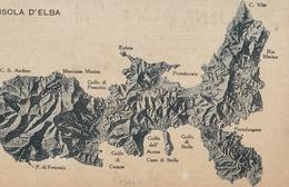 Cartolina  - Postcard / Non Viaggiata -  Not Sent. / Isola D'Elba, Cartina. - Italia
