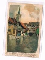 572 Marcks Erfurt Kämerbrücke Litho Künstlerkarte - Other Illustrators