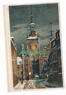 589 Zeno Diemer München Rathaus Litho Künstlerkarte - Diemer, Zeno