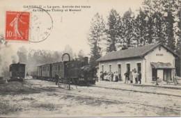 02 GANDELU   La Gare - Arrivée Des Trains Se Château-Thierry Et Mareuil - Altri Comuni