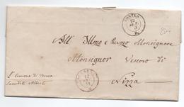 1853 - LETTRE EN FRANCHISE De VERNEA DE CONTES (COMTE DE NICE / ALPES MARITIMES) -> CACHET SARDE ESCARENA / L'ESCARENE - Marcophilie (Lettres)