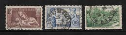 France Timbre De 1937 N°356 A 358  Oblitérés - Used Stamps